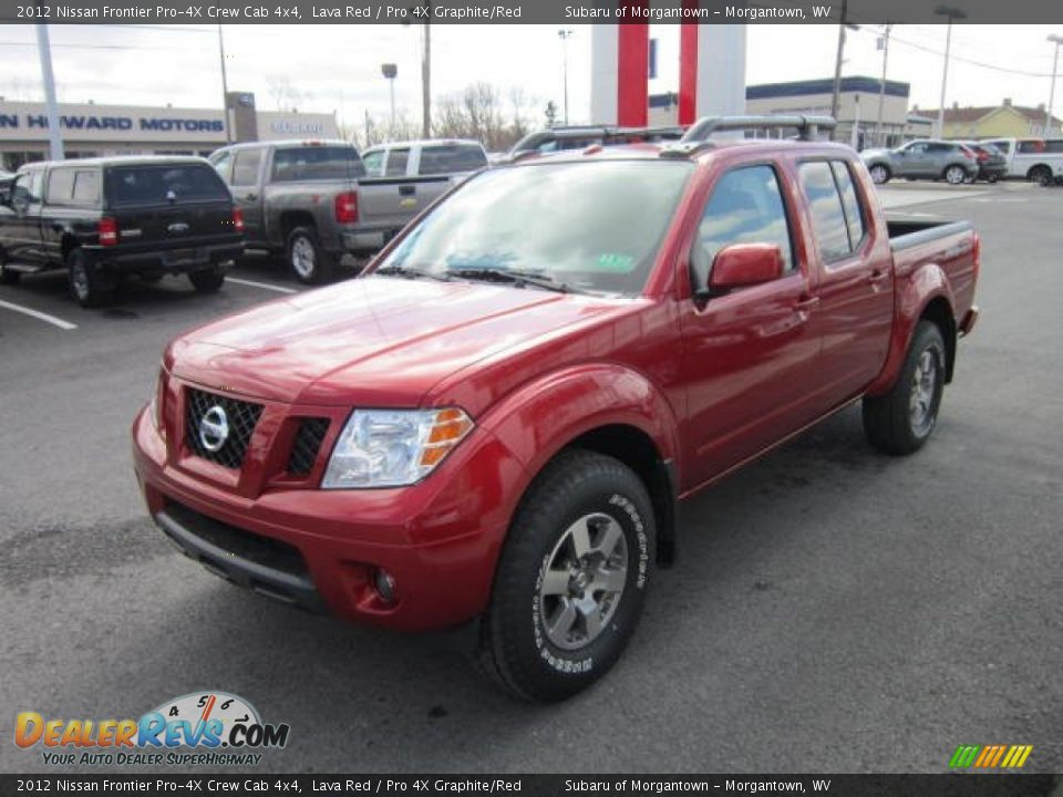 2012 nissan frontier pro 4x crew cab 4x4 lava red pro 4x graphite red photo 3. Black Bedroom Furniture Sets. Home Design Ideas
