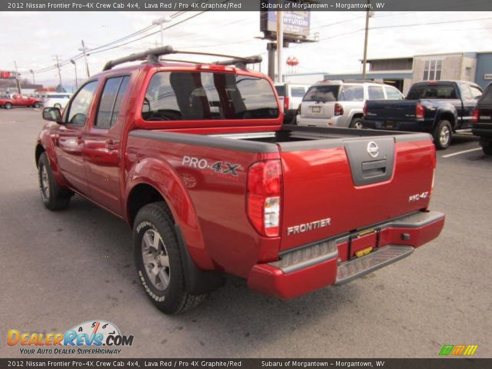 2012 nissan frontier pro 4x crew cab 4x4 lava red pro 4x graphite red photo 5. Black Bedroom Furniture Sets. Home Design Ideas