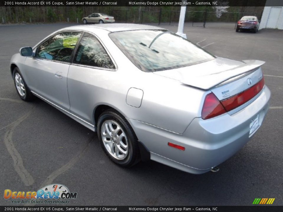 2001 honda accord ex v6 coupe satin silver metallic charcoal photo 3. Black Bedroom Furniture Sets. Home Design Ideas