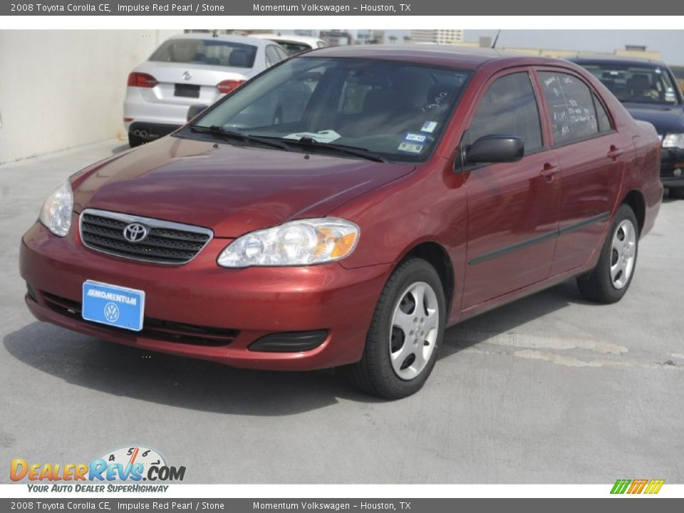 2008 Toyota Corolla Ce Impulse Red Pearl Stone Photo 3