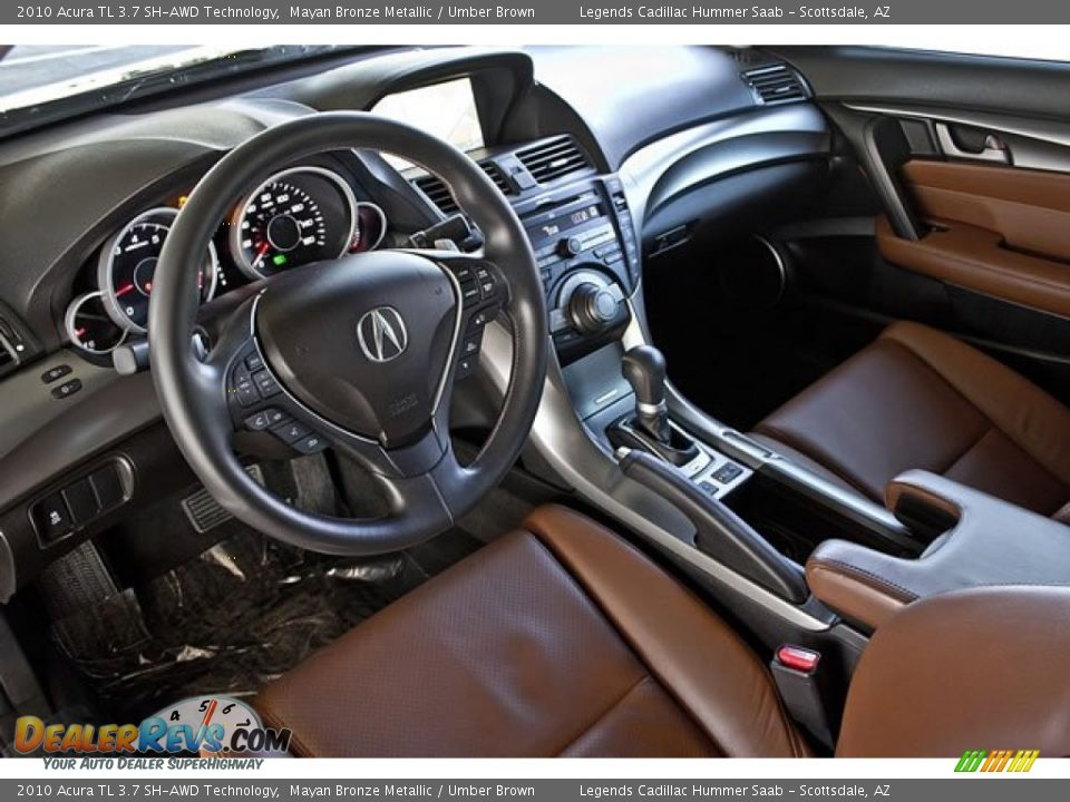 Umber Brown Interior 2010 Acura Tl 3 7 Sh Awd Technology