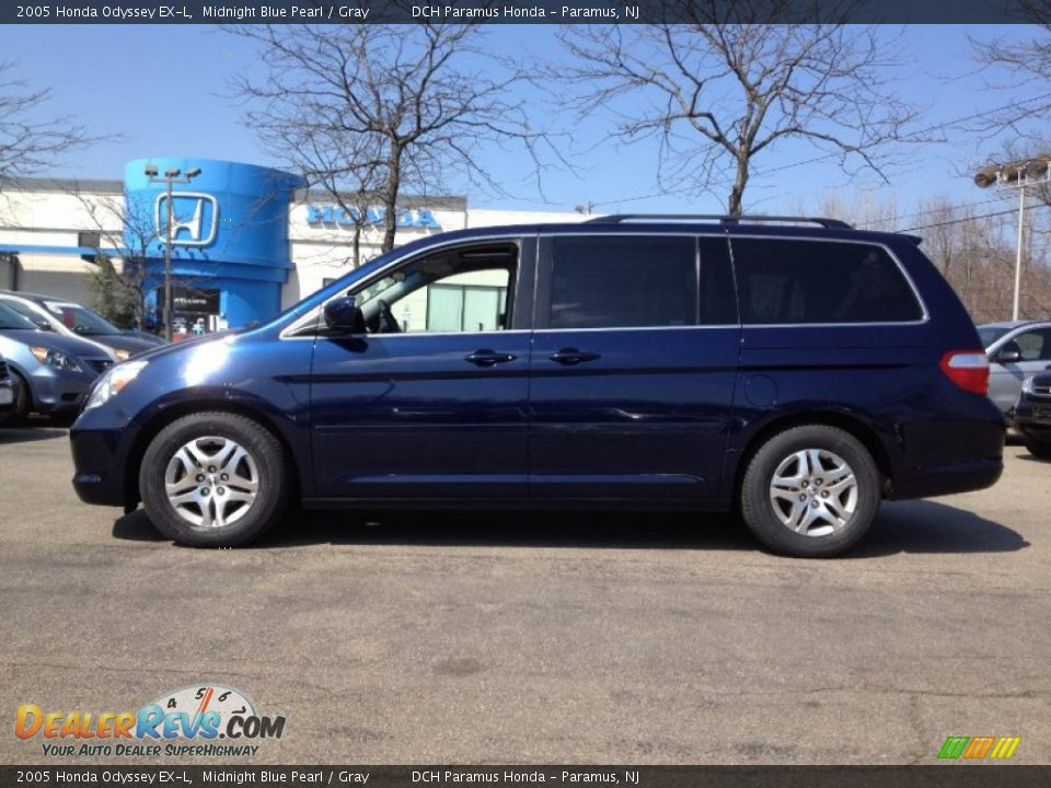 2005 honda odyssey ex l midnight blue pearl gray photo. Black Bedroom Furniture Sets. Home Design Ideas