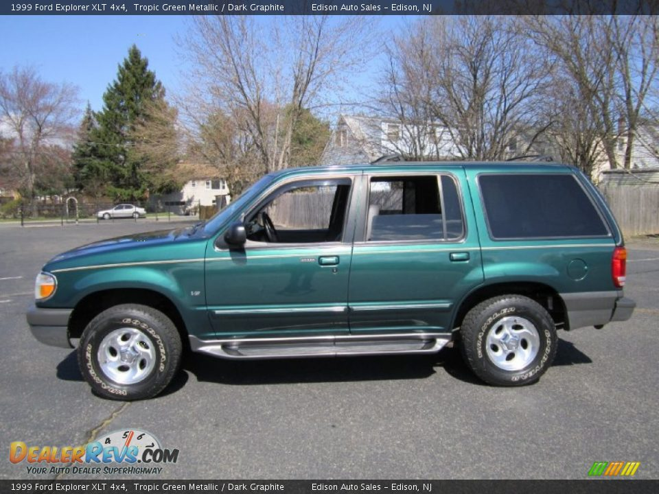 tropic green metallic 1999 ford explorer xlt 4x4 photo 1. Black Bedroom Furniture Sets. Home Design Ideas