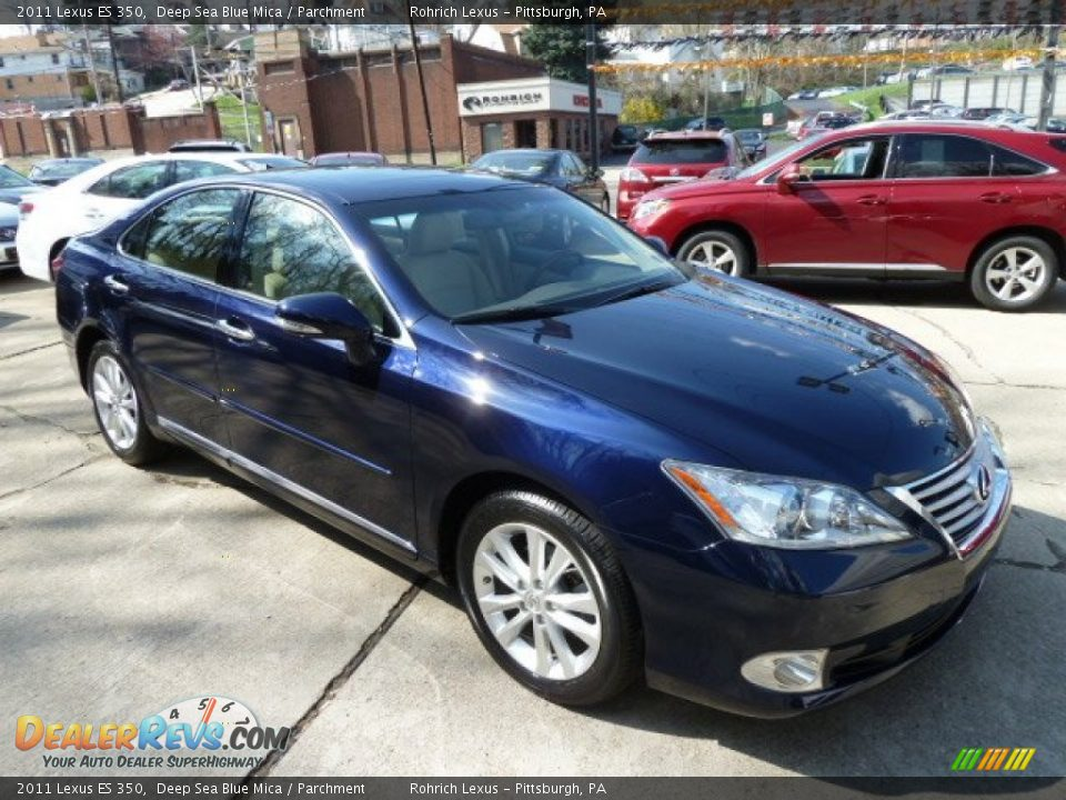 2011 Lexus ES 350 Deep Sea Blue Mica / Parchment Photo #6 | DealerRevs ...