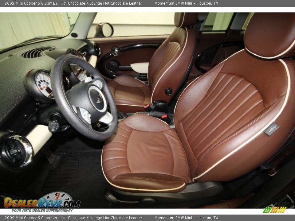 Lounge Hot Chocolate Leather Interior 2009 Mini Cooper S Clubman