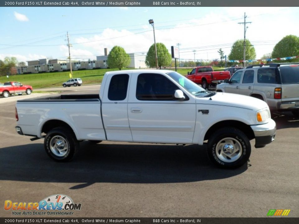 2000 ford f150 xlt extended cab 4x4 oxford white medium graphite photo 2. Black Bedroom Furniture Sets. Home Design Ideas