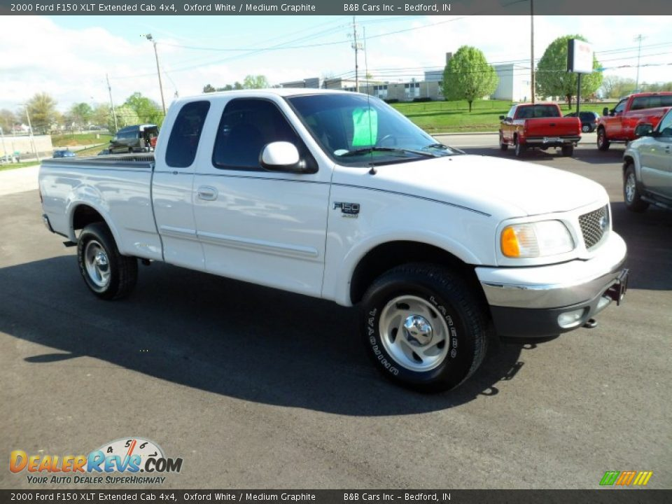 2000 ford f150 xlt extended cab 4x4 oxford white medium graphite photo 7. Black Bedroom Furniture Sets. Home Design Ideas