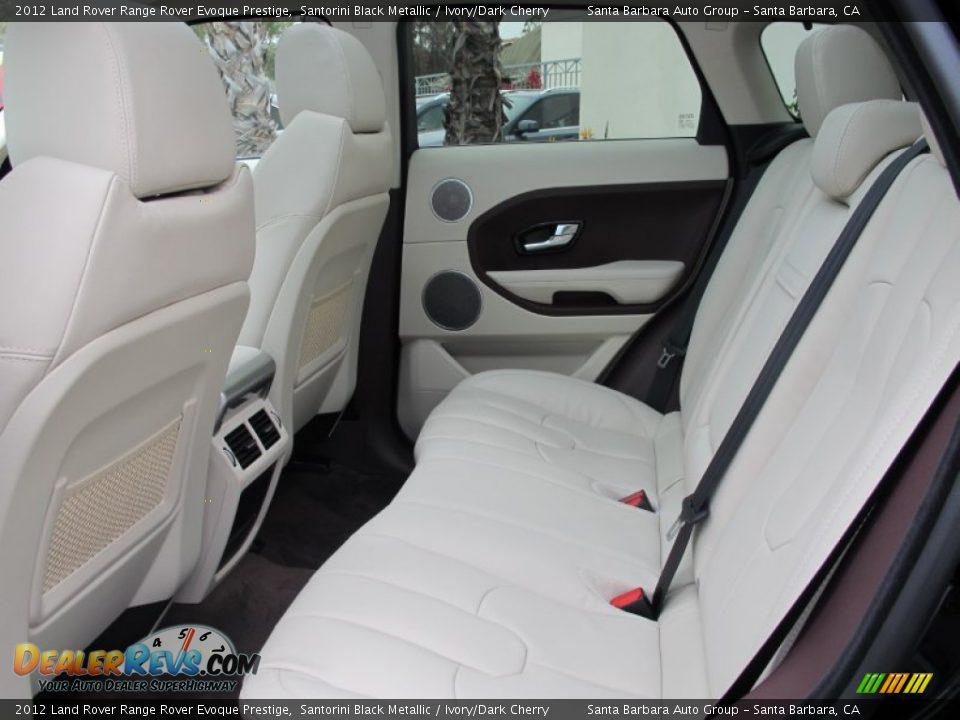 Ivory Dark Cherry Interior 2012 Land Rover Range Rover