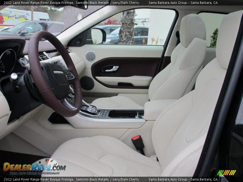 Ivory Dark Cherry Interior 2012 Land Rover Range Rover Evoque Prestige Photo 6