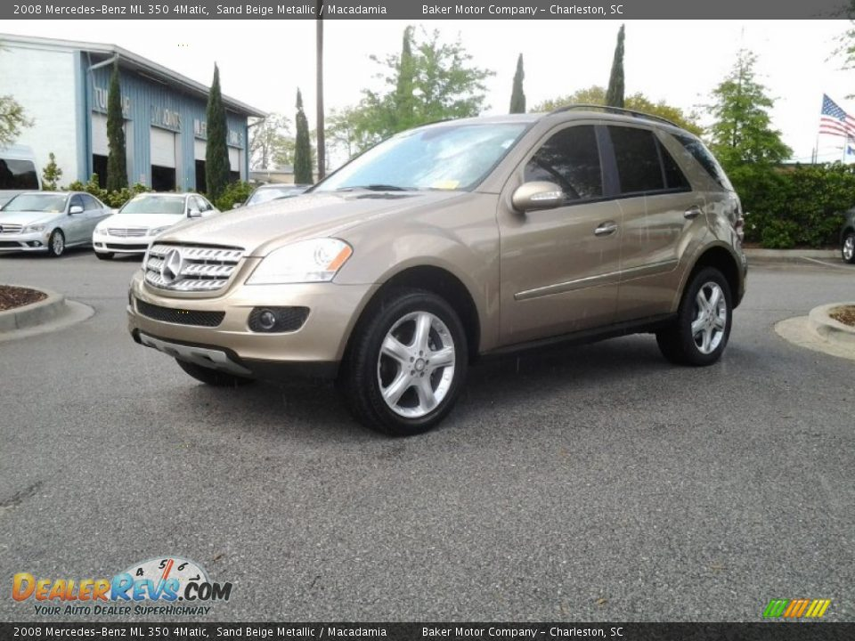 2008 mercedes benz ml 350 4matic sand beige metallic for Mercedes benz ml 350 2008