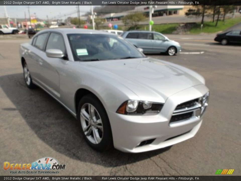 2012 dodge charger sxt awd bright silver metallic black. Black Bedroom Furniture Sets. Home Design Ideas