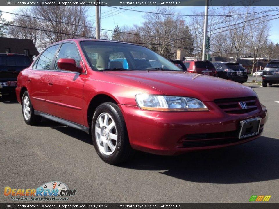 2002 Honda Accord Ex Sedan Firepepper Red Pearl Ivory