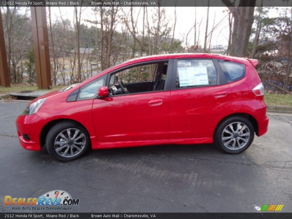 Milano Red 2012 Honda Fit Sport Photo 4 Dealerrevs Com