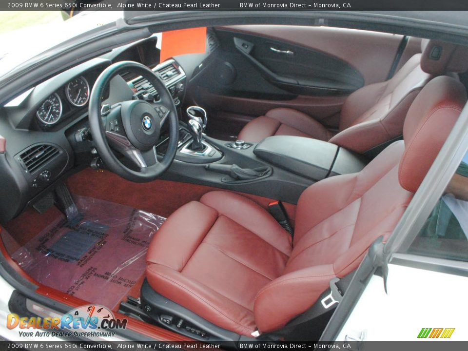 Chateau Pearl Leather Interior 2009 Bmw 6 Series 650i