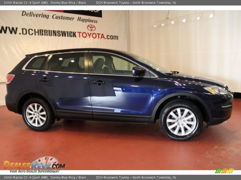 2009 mazda cx 9 sport awd stormy blue mica black photo 5. Black Bedroom Furniture Sets. Home Design Ideas