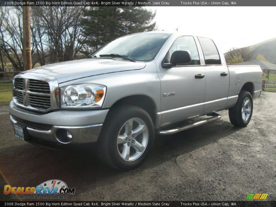 2008 dodge ram 1500 big horn edition quad cab 4x4 bright silver metallic medium slate gray. Black Bedroom Furniture Sets. Home Design Ideas