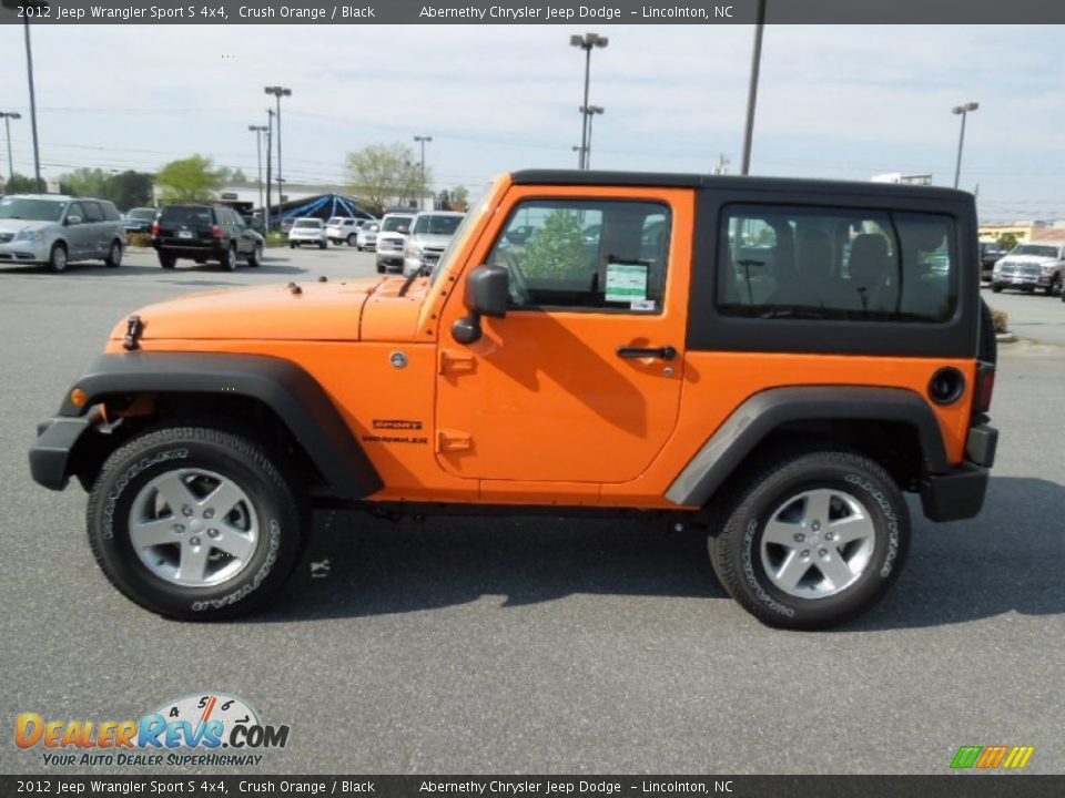 crush orange 2012 jeep wrangler sport s 4x4 photo 4. Cars Review. Best American Auto & Cars Review