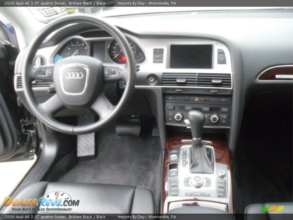 2009 Audi A6 3.0T quattro Sedan Brilliant Black / Black Photo #11 ...