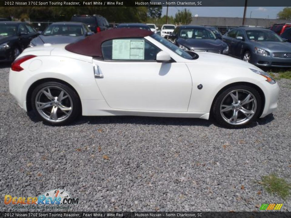 Pearl White 2012 Nissan 370z Sport Touring Roadster Photo