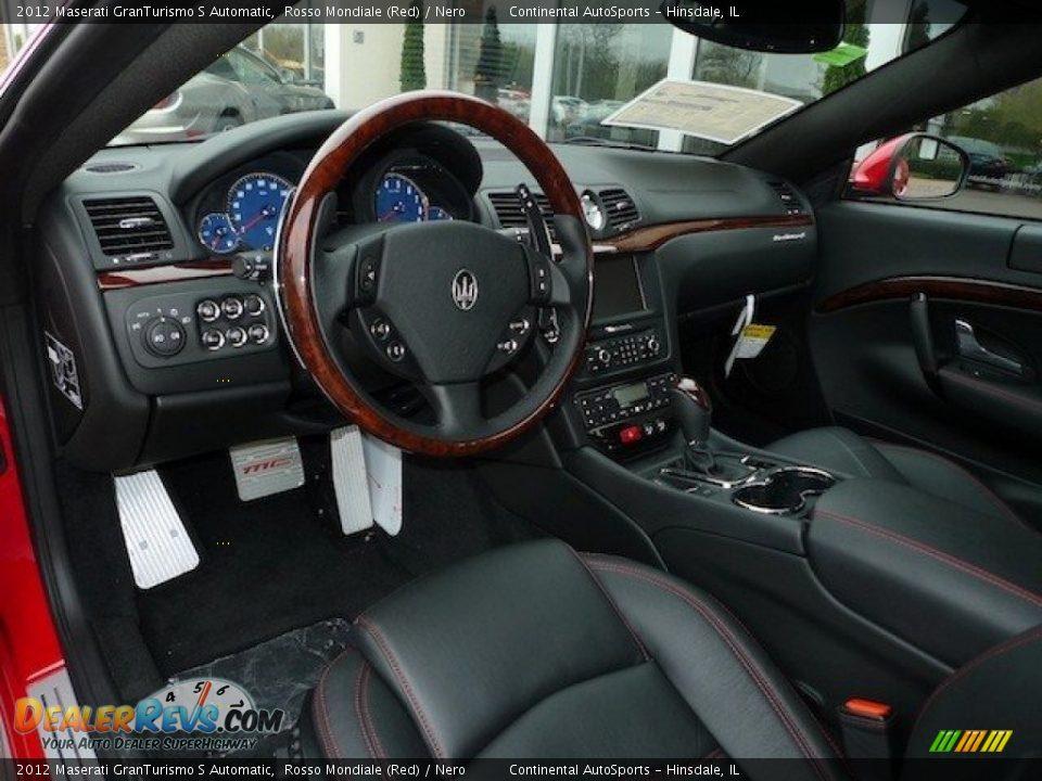 Nero interior 2012 maserati granturismo s automatic - Maserati granturismo red interior ...