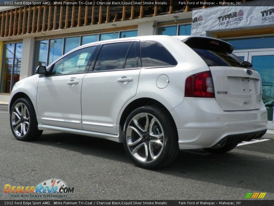 2013 ford edge sport awd white platinum tri coat charcoal black liquid silver smoke metallic. Black Bedroom Furniture Sets. Home Design Ideas