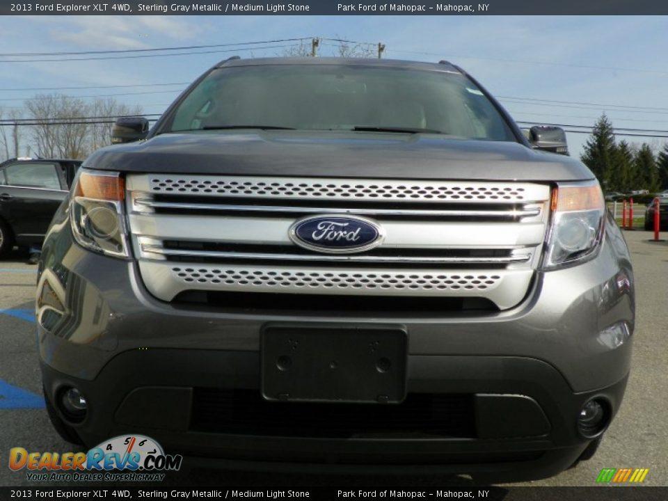 2013 Ford Explorer XLT 4WD Sterling Gray Metallic / Medium Light Stone