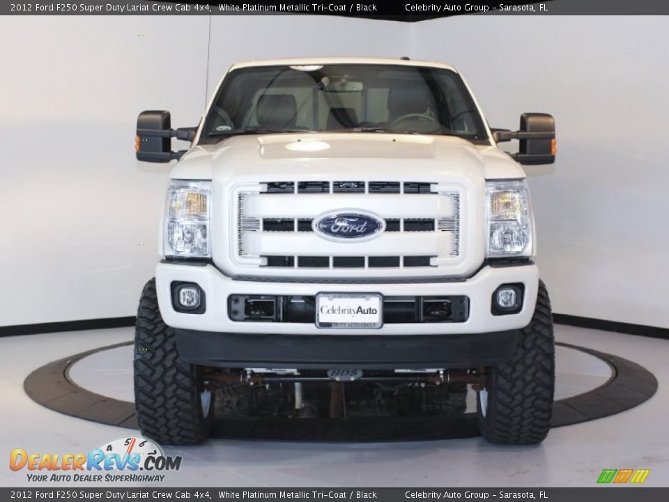 2012 Ford F250 Super Duty Lariat Crew Cab 4x4 White Platinum Metallic ...