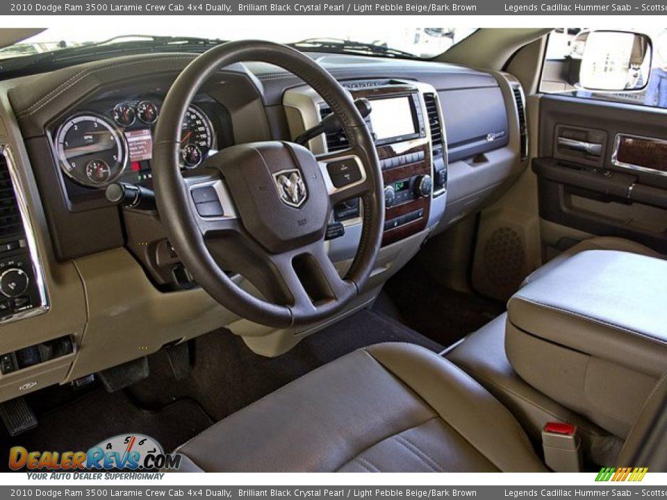Light Pebble Beige Bark Brown Interior 2010 Dodge Ram