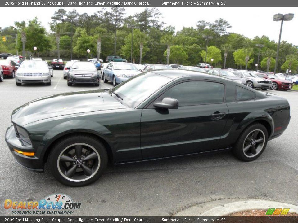 2009 Ford Mustang Bullitt Coupe Dark Highland Green Metallic / Dark ...