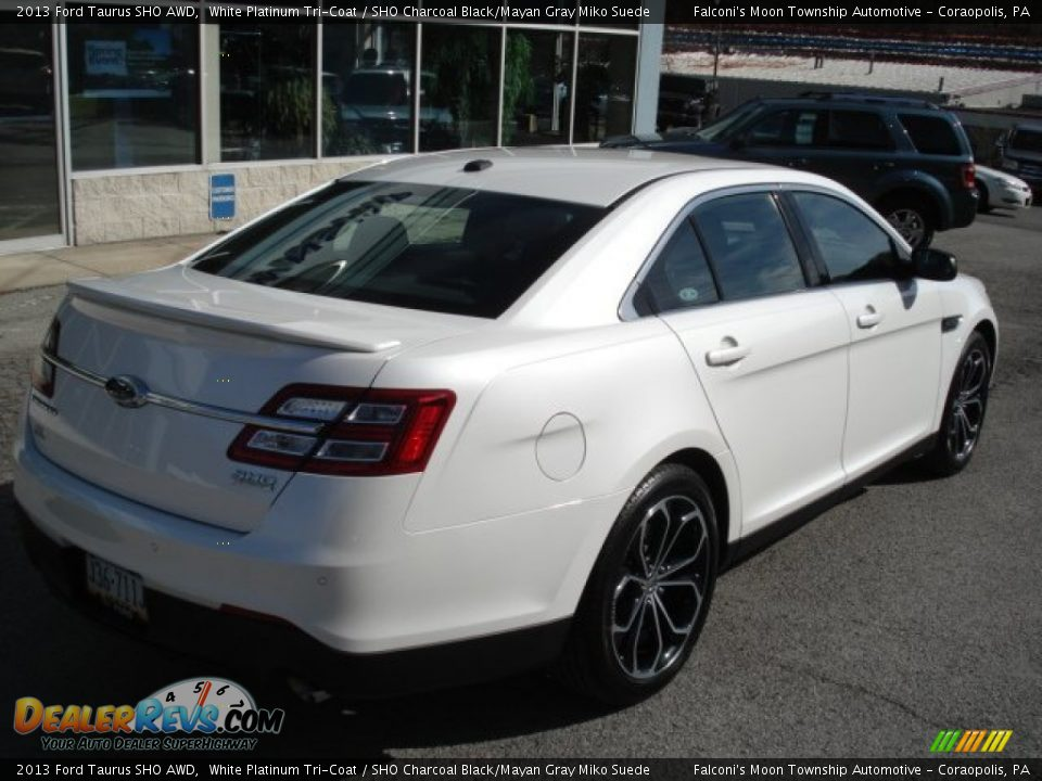 2013 Taurus Sho Awd White Platinum Tri Coat Sho Charcoal