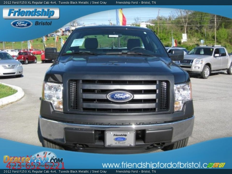 2012 ford f150 xl regular cab 4x4 tuxedo black metallic steel gray photo 3. Black Bedroom Furniture Sets. Home Design Ideas