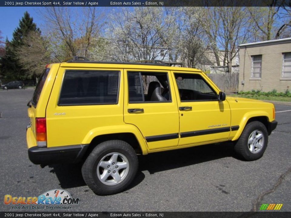 2001 jeep cherokee sport 4x4 solar yellow agate photo 8. Cars Review. Best American Auto & Cars Review