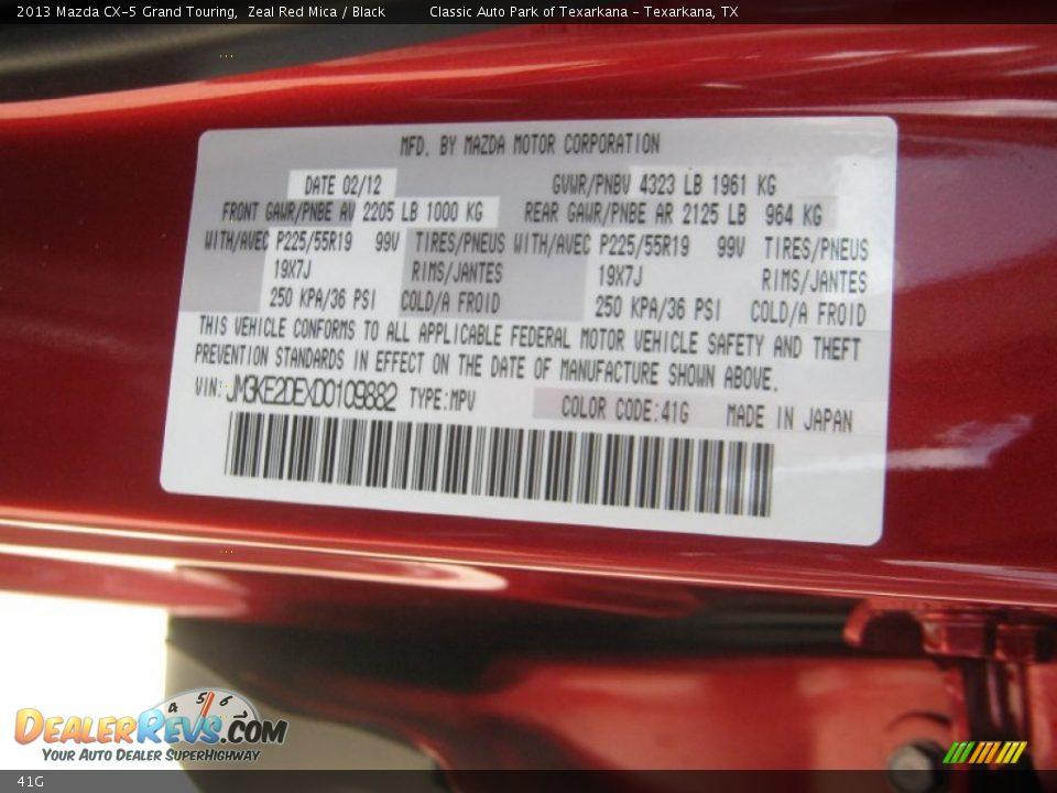 Mazda Cx 5 Colour Code >> Mazda Color Code 41G Zeal Red Mica | DealerRevs.com