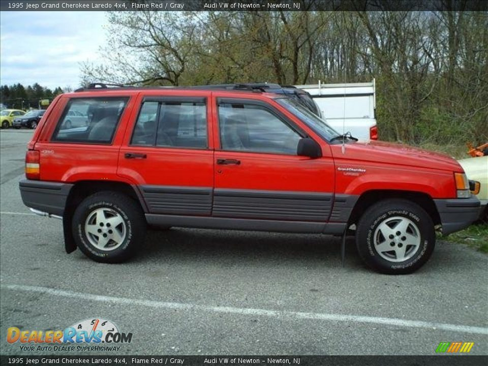 1995 jeep grand cherokee laredo 4x4 flame red gray photo 3. Cars Review. Best American Auto & Cars Review