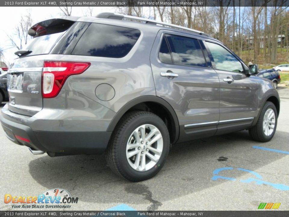 2013 Ford Explorer XLT 4WD Sterling Gray Metallic / Charcoal Black