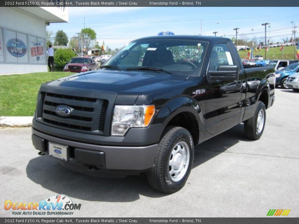2012 ford f150 xl regular cab 4x4 tuxedo black metallic steel gray photo 2. Black Bedroom Furniture Sets. Home Design Ideas
