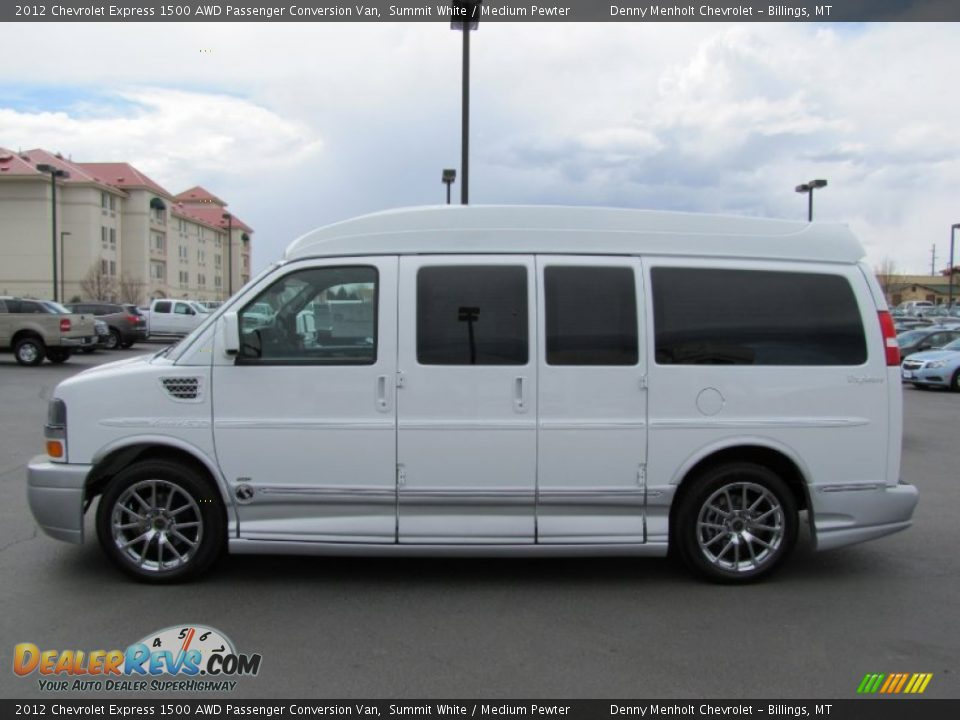 2012 chevrolet express 1500 awd passenger conversion van summit white medium pewter photo 4. Black Bedroom Furniture Sets. Home Design Ideas