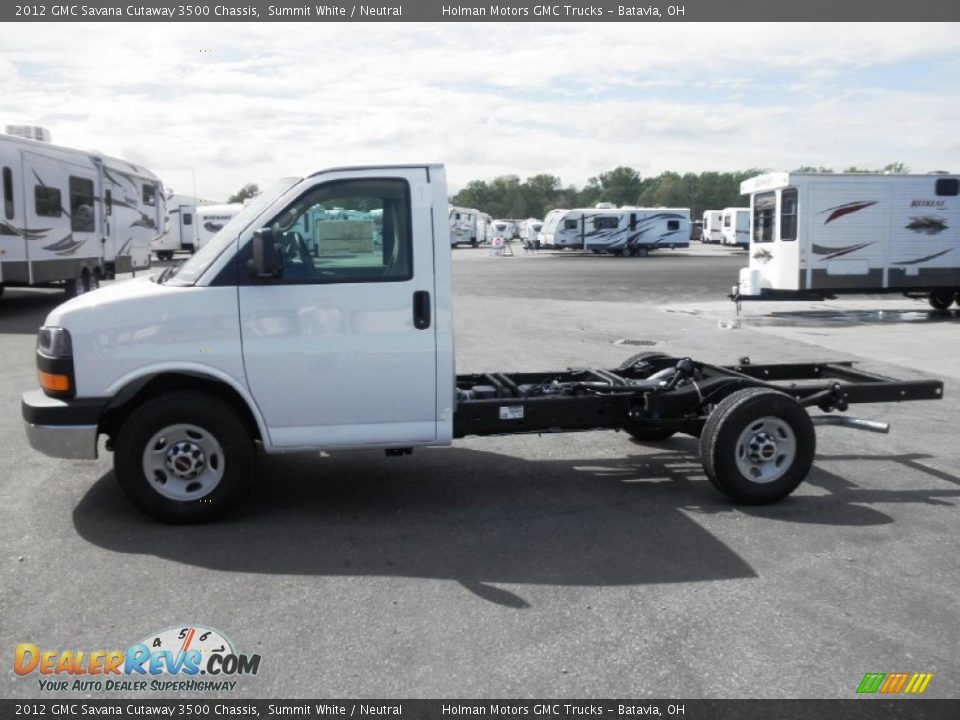 2012 GMC Savana Cutaway 3500 Chassis Summit White ...
