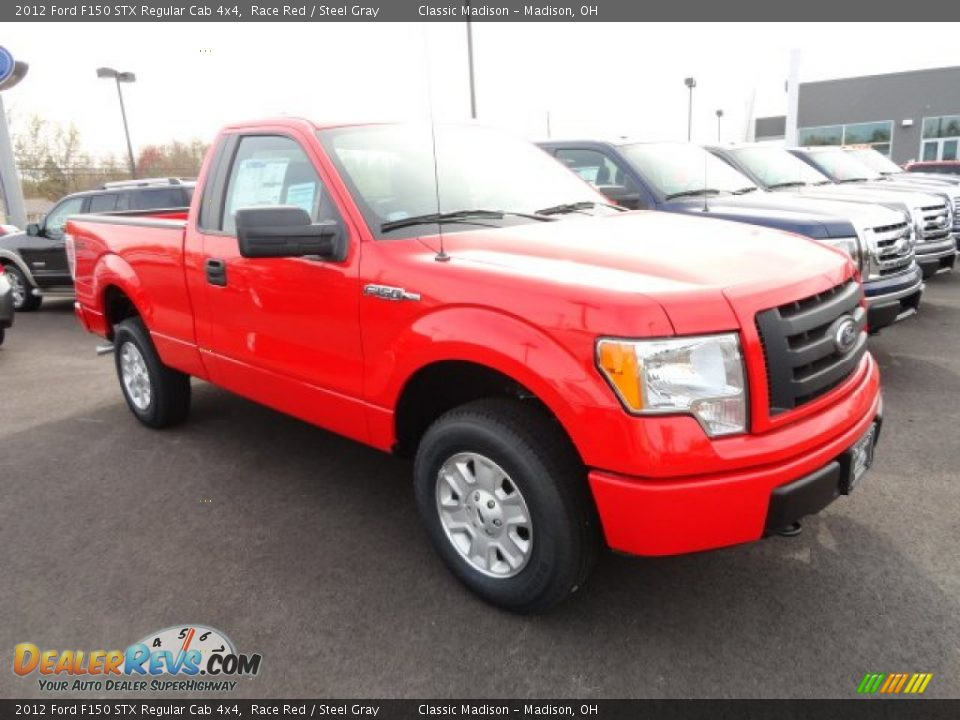 2012 ford f150 stx regular cab 4x4 race red steel gray photo 3. Black Bedroom Furniture Sets. Home Design Ideas