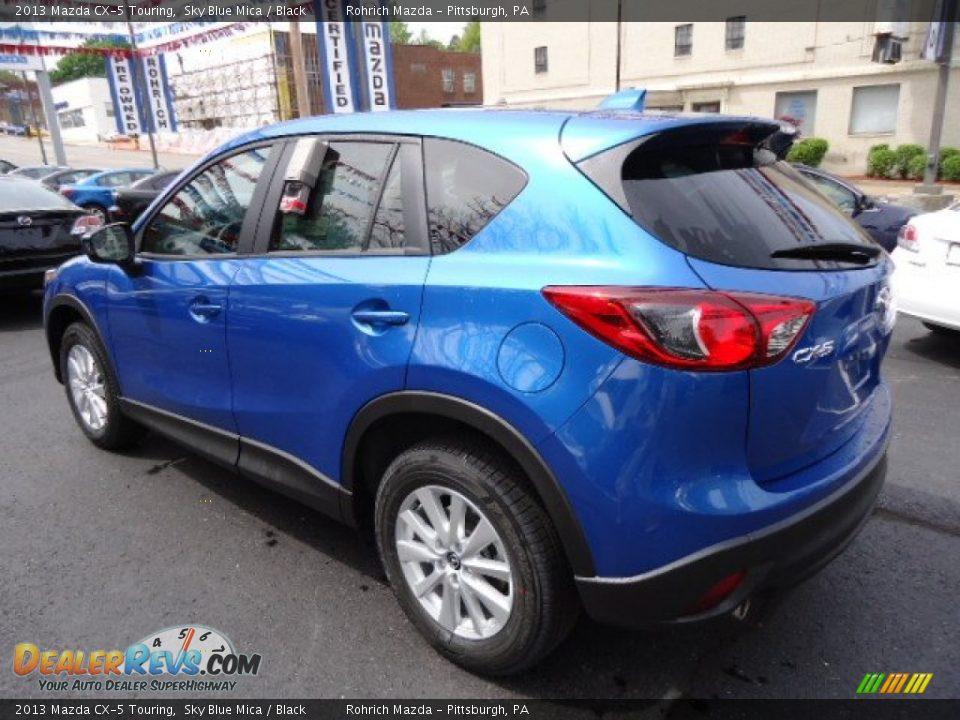 2013 Mazda Cx 5 Touring Sky Blue Mica Black Photo 3