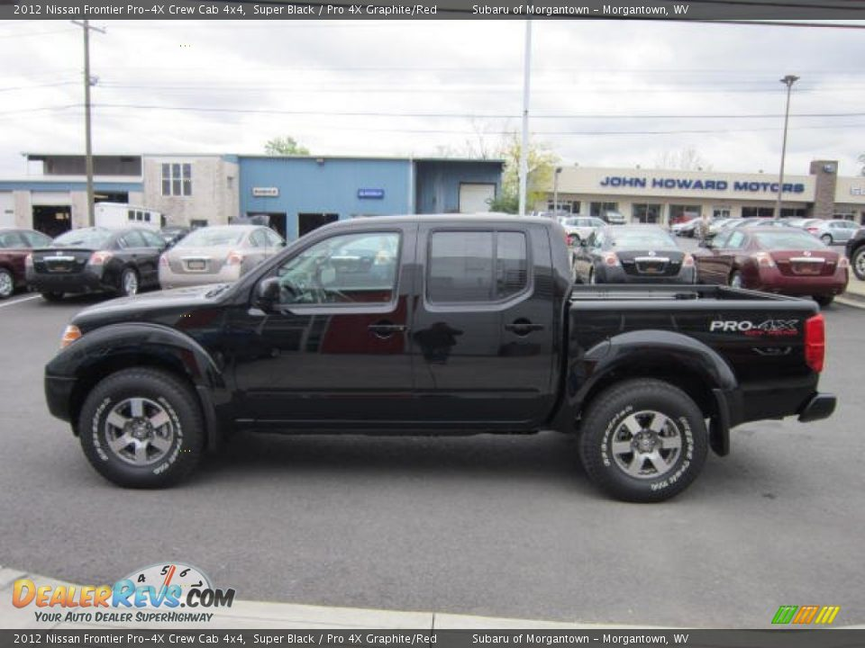 2012 nissan frontier pro 4x crew cab 4x4 super black pro 4x graphite red photo 4. Black Bedroom Furniture Sets. Home Design Ideas