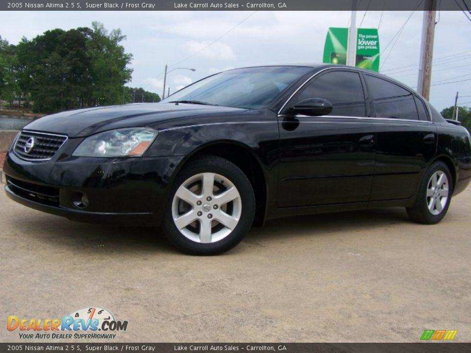 2005 Nissan Altima 2 5 S Super Black Frost Gray Photo 1