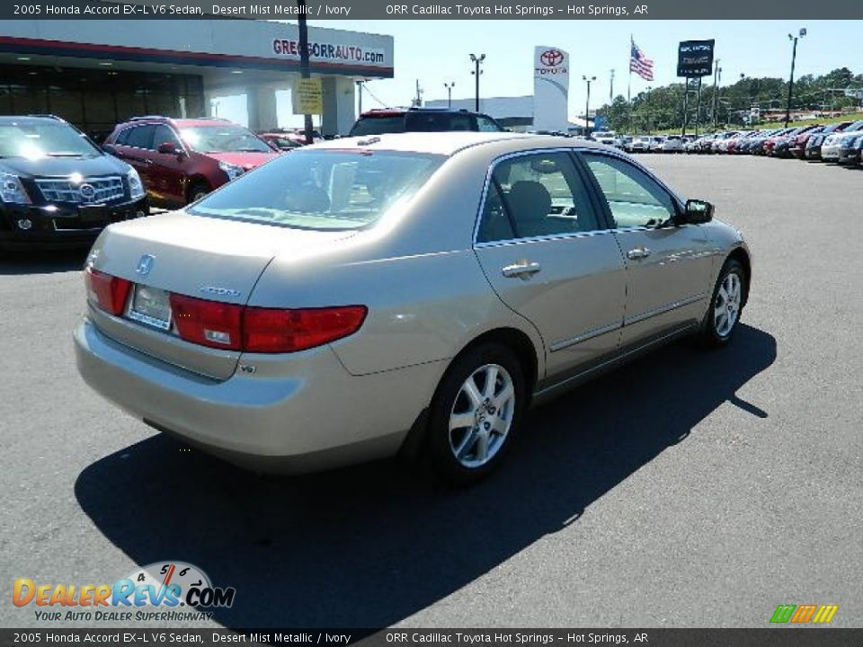 2005 honda accord ex l v6 sedan desert mist metallic ivory photo 3. Black Bedroom Furniture Sets. Home Design Ideas