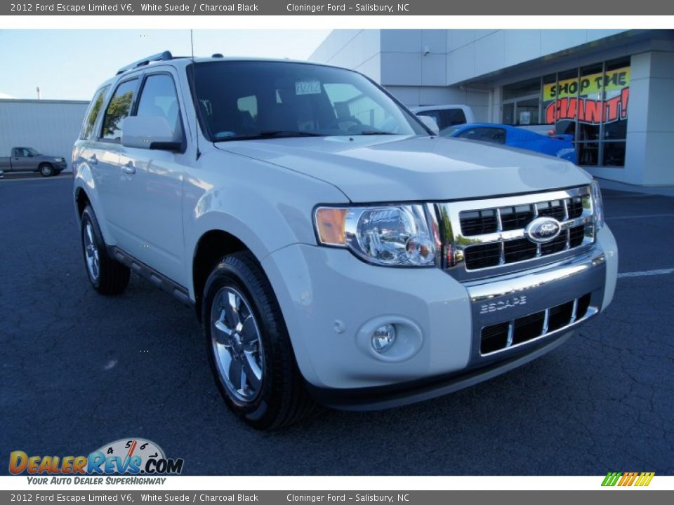 2012 Ford Escape Limited V6 White Suede / Charcoal Black ...
