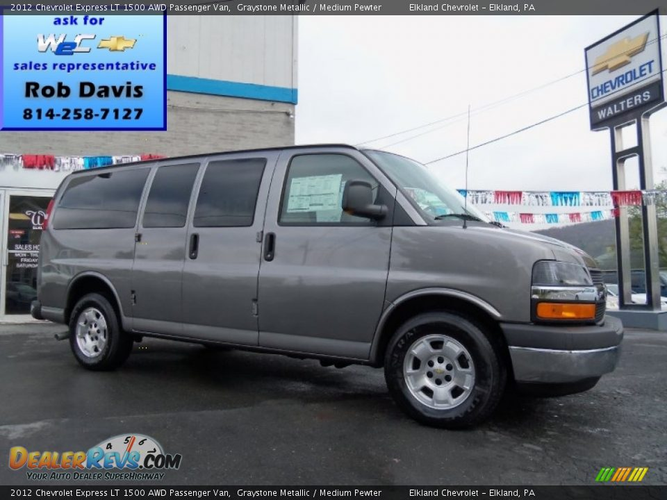 2012 chevrolet express lt 1500 awd passenger van graystone metallic medium pewter photo 1. Black Bedroom Furniture Sets. Home Design Ideas