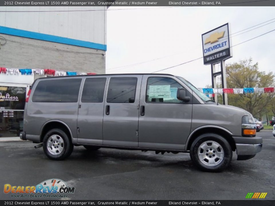 2012 chevrolet express lt 1500 awd passenger van graystone metallic medium pewter photo 2. Black Bedroom Furniture Sets. Home Design Ideas