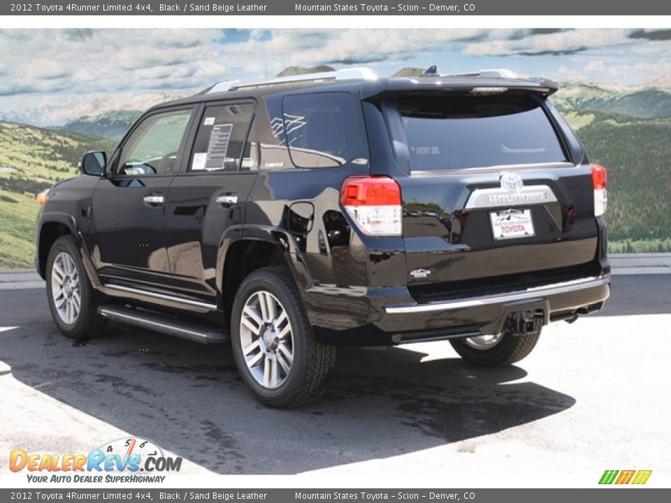 2012 Toyota 4runner Limited 4x4 Black Sand Beige Leather