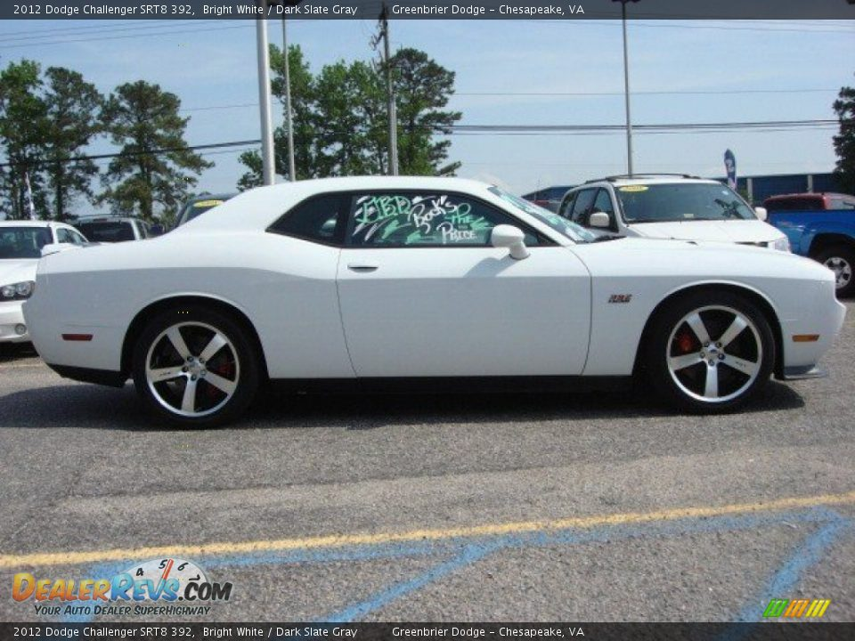 2012 dodge challenger srt8 392 bright white dark slate