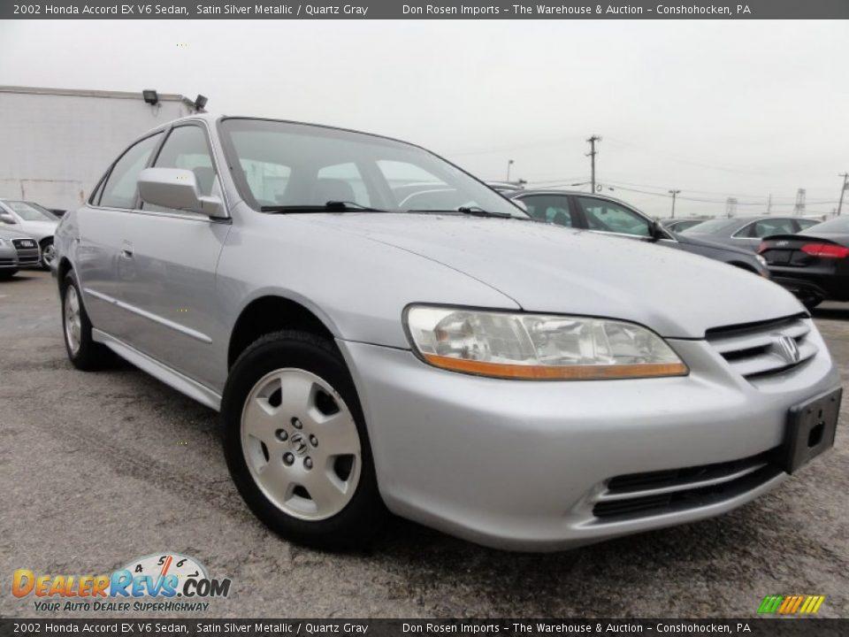 2002 Honda Accord Ex V6 Sedan Satin Silver Metallic