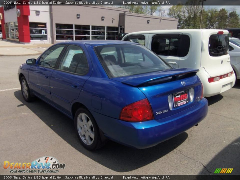 2006 nissan sentra 1 8 s special edition sapphire blue. Black Bedroom Furniture Sets. Home Design Ideas